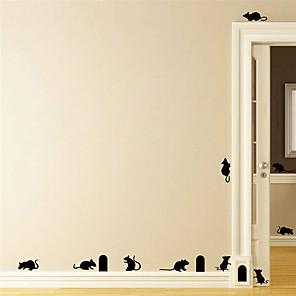 cheap Wall Stickers-Halloween Party Halloween Decor Horror Ghost Halloween Animal Mouse Wall Stickers Decorative Wall Stickers, PVC Home Decoration Wall Decal Wall Decoration / Removable