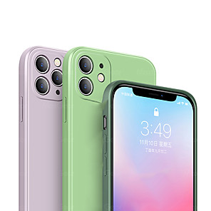 cheap iPhone Cases-Case for iPhone 11Pro Max New Square Liquid Silicone Phone Case XS Max Built-in Comfortable Luxury Plush Shockproof Anti-drop 6 7 8Plus SE2020 Protective Case