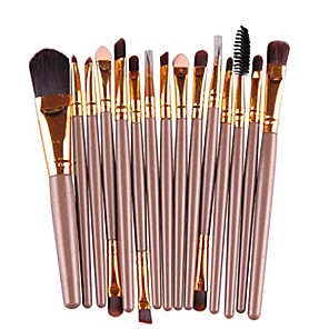 cheap Makeup Brush Sets-brush, 15 pcs eye shadow eyebrow lip brush makeup brushes tool & #40;gold& #41;
