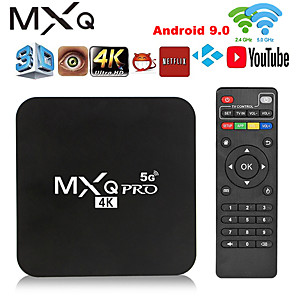 cheap Projectors-Smart TV Box MXQ PRO 4K 5Ghz Android 9.0 HD 3D 2.4G 5G WiFi Amlogic S905W Smart tv 2GB 16GB Android TV Box Media Player Global