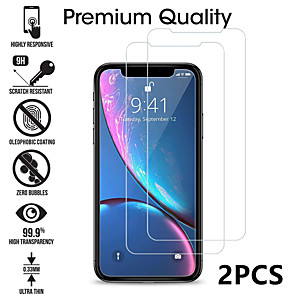 cheap iPhone Cases-2PCS Tempered Glass For iphone X XS 11 Pro Max XR 7 8 Screen Protector SE 2020 protective Glass on iphone 7 8 6s Plus X 11 Pro glass