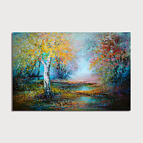 cheap Landscape Paintings-Hand-Painted Abstract Landscape Painting Canvas Art  Painting Modern Art Textured Art  with Stretcher Ready to Hang With Stretched Frame