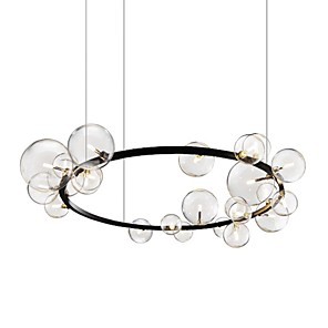 cheap Sputnik Design-ZHISHU 85 cm Circle Design Pendant Light Metal Glass Basic Circle Painted Finishes Nature Inspired Nordic Style 110-120V 220-240V