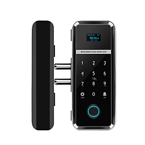 cheap Door Locks-WAFU Single/Double Open Door Fingerprint Lock Fingerprint Touchscreen Smart Lock Digital App Glass Door Lock Remote Controller APP Lock (WF-012)
