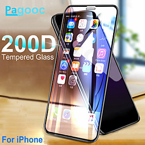 cheap iPhone Cases-200D Curved Protective Tempered Glass For iPhone X XS 11 Pro Xs Max XR Glass Screen Protector on iPhone 7 8 6 6S Plus Glass Film