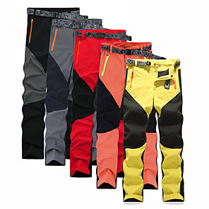 cheap Hiking Trousers & Shorts-Men's Hiking Pants Patchwork Summer Outdoor Regular Fit Waterproof Breathable Quick Dry Ultra Light (UL) Pants / Trousers Bottoms Black Yellow Red Grey Orange Camping / Hiking Fishing Climbing M L XL