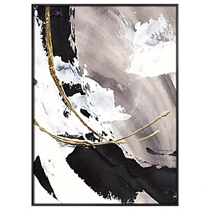 cheap Abstract Paintings-Big size White gorgeous abstract Painting 100% Hand painted abstract oil painting Gold Gray home Decor Oil Painting on Canvas Rolled Without Frame