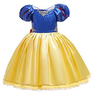 cheap Movie & TV Theme Costumes-Princess Dress Cosplay Costume Girls' Movie Cosplay Halloween Blue Dress Christmas Halloween Carnival Polyester / Cotton