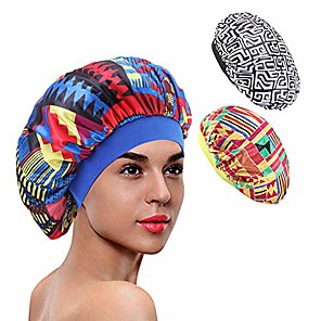 cheap Bathroom Gadgets-3 packs soft satin sleeping cap salon bonnet night hat hair loss chemo caps for women