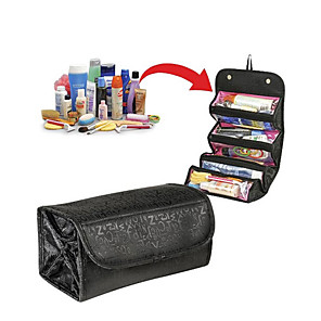 cheap Bathroom Gadgets-Traveling Hanging Cosmetic Bag Women Zipper Case Letter Make Up Makeup Bags Necessaries Storage Organizer Toilet Bag