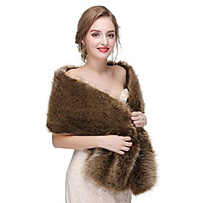 cheap Historical & Vintage Costumes-navy fur shawl,wedding fur shrug stole bridal and bridesmaids fur cape cover up,simulation fur,long 57''x16'',67
