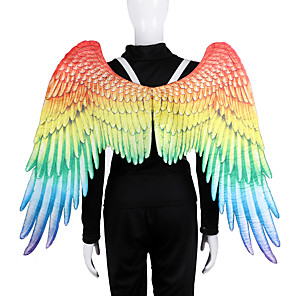 cheap Other Phone Case-Angel Wings Cloak Adults' Men's Cosplay Halloween Halloween Festival / Holiday Nonwoven Red Men's Women's Easy Carnival Costumes