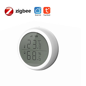 cheap Security Sensors-TUYA ZigBee intelligent temperature and humidity sensor with screen smart home