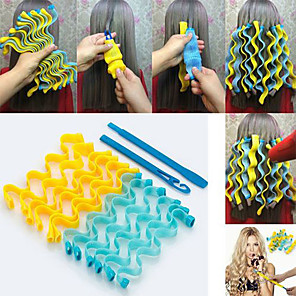cheap Bathroom Gadgets-DIY Magic Hair Curler Portable 18PCS Hairstyle Roller Sticks Durable Beauty Makeup Curling Hair Styling Tools