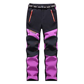 cheap Softshell, Fleece & Hiking Jackets-Women's Softshell Pants Solid Color Winter Outdoor Standard Fit Thermal Warm Windproof Fleece Lining Breathable Fleece Pants / Trousers Bottoms Purple Red Fuchsia Blue Green Fishing Climbing Camping