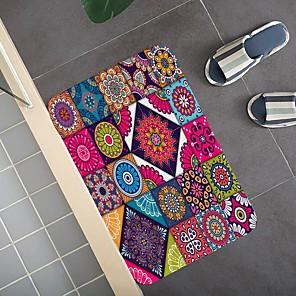 cheap Bathroom Gadgets-Creative 3d Printing Multicolored Floor Field Hallway Carpet And Rugs For Bedroom Living Room Carpet Kitchen Bathroom Anti-slip Floor Mats