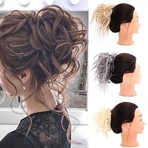 cheap Hair Pieces-Human Hair Lace Wig Casual / Daily Hair Bun Adorable / New Arrival / Fashion Synthetic Hair Hair Piece Hair Extension Casual / Daily Natural Black #1B / Medium Brown / Golden Brown#12