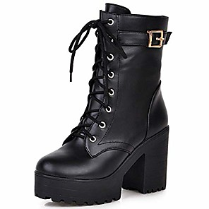 cheap Women's Boots-Women's Boots Classic Punk & Gothic Daily Buckle Winter Bright yellow / Black / Brown