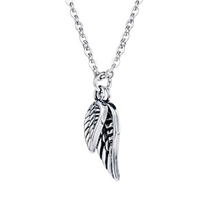 cheap Pendant Necklaces-Men's Pendant Necklace Classic Feather Fashion Titanium Steel Silver 50+5 cm Necklace Jewelry 1pc For Street Festival