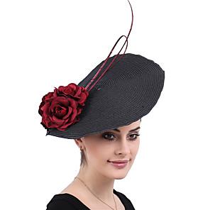 povoljno Šeširi i fascinatori-kraljica Elizabeth Audrey Hepburn Retro / vintage 1950-te 1920s Kentucky Derby Hat Šešir za pilule Žene Kostim šešir Crn Vintage Cosplay Party Prom
