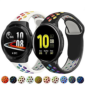cheap Smartwatch Bands-Rainbow Silicone Watch Band for Huawei Watch GT 2e / GT2 46mm / GT2 42mm / GT Active / Honor Magic Watch 2 46mm / 42mm / Watch 2 Pro / Watch 2 Replaceable Bracelet Wrist Strap Wristband