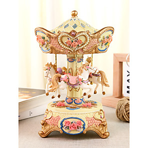 cheap Music Boxes-Music Box Carousel Music Box Unique Women's Girls' Kid's Adults Graduation Gifts Toy Gift