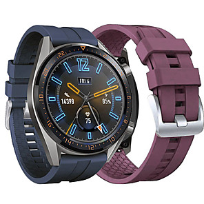 cheap Smartwatch Bands-Watch Band for Huawei Watch GT 46mm Huawei Classic Buckle Silicone Wrist Strap