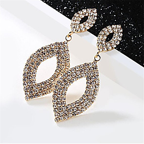 cheap Earrings-Women's Cubic Zirconia Hoop Earrings Hollow Out Fashion Stylish Earrings Jewelry Gold / Silver For Date Festival 1 Pair