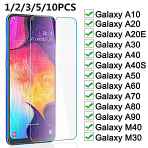 cheap Samsung Case-Protective Glass on the For Samsung Galaxy A10 A20 A30 A40 A50 A60 A70 A80 A90 A20E A40S M20 M30 M40 Screen Tempered Glass Film