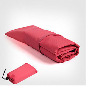cheap Sleeping Bags & Camp Bedding-Picnic Pad Picnic Blanket Outdoor Camping Waterproof Portable Terylene Waterproof Fabric 140*150 cm for 5 pcs Beach Camping Spring, Fall, Winter, Summer Black Fuchsia Blue