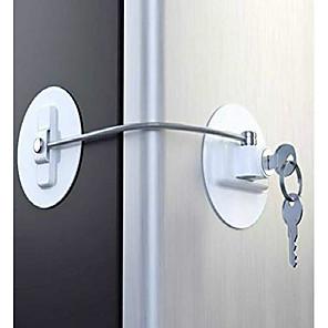 Χαμηλού Κόστους Φροντίδα μωρού-ενήλικες παιδική κλειδαριά πόρτας ψυγείου με κλειδί, κλειδαριές πόρτας ψυγείου για παιδιά, κλειδαριά ασφαλείας συρταριού (λευκό)