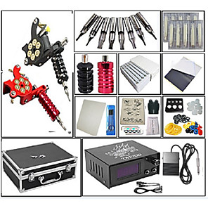 cheap Tattoo Ink-Professional Tattoo Kit Tattoo Machine - 2 pcs Tattoo Machines, Dynamics Adjustable / Adjustable Voltage / Kits Cast Iron # 2 cast iron machine liner & shader / Coil Tattoo Machine