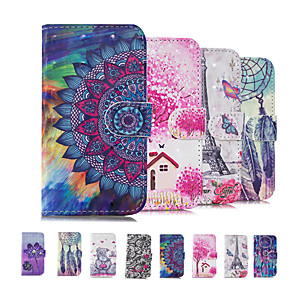 cheap Other Phone Case-Case For Nokia Nokia 2.1 3.1 5.1 X5 5.1 Plus X6 6.1 Plus Nokia 7 Plus Nokia 6.1 Plus Nokia 5.1 Card Holder Flip Back Cover Geometric Pattern TPU