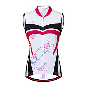 cheap Cycling Jerseys-21Grams Women's Sleeveless Cycling Jersey Cycling Vest Fuchsia Floral Botanical Bike Vest / Gilet Jersey Mountain Bike MTB Road Bike Cycling Breathable Quick Dry Anatomic Design Sports Clothing