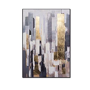 cheap Abstract Paintings-Abstract oil painting on canvas 100% Hand painted Modern Bright Color abstract painting colorful landscape Picture Home Wall Hotel decor Rolled Without Frame