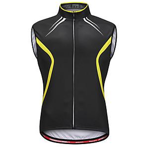 cheap Phone Mounts & Holders-WOSAWE Men's Sleeveless Cycling Vest Black / Yellow Bike Vest / Gilet Jersey Reflective Strips Back Pocket Sweat-wicking Sports Reactive Print Mountain Bike MTB Road Bike Cycling Clothing Apparel