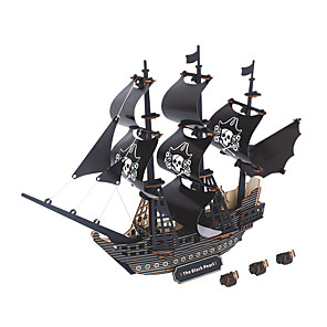 cheap Building Blocks-Black Pearl Wooden Puzzle Model Building Kit Wooden Model EPS Kid's Adults' Toy Gift