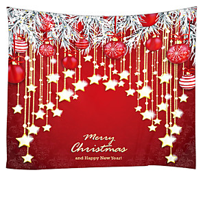 cheap Christmas Decorations-Christmas Weihnachten Santa Claus Wall Tapestry Art Decor Blanket Curtain Picnic Tablecloth Hanging Home Bedroom Living Room Dorm Decoration Merry Christmas Weihnachten Star Ball Happy New Year Polyes