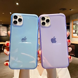 cheap iPhone Cases-Case For Apple iPhone 6 6s 7 8 6plus 6splus 7plus 8plus X XR XS XSMax SE(2020) iPhone 11 11Pro 11ProMax Ultra-thin Transparent Back Cover Solid Colored TPU