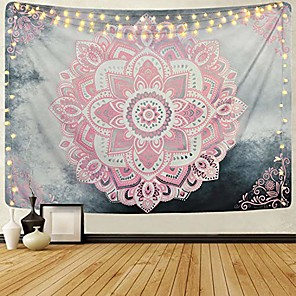 cheap Dreamcatcher-pink mandala tapestry bohemian tapestries hippie tapestry floral medallion tapestry for bedroom