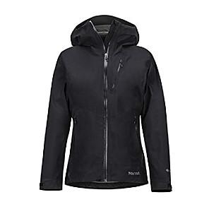 baratos Roupas para Corrida, Ioga & Fitness-Jaqueta de chuva impermeável feminina com gore-tex, preta, pequena