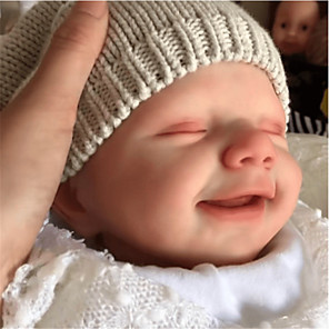 cheap Reborn Doll-20 inch Reborn Doll Baby & Toddler Toy Reborn Baby Doll April Newborn lifelike Hand Made Simulation Floppy Head Cloth Silicone Vinyl with Clothes and Accessories for Girls' Birthday and Festival Gifts