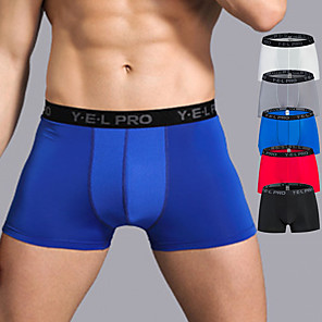 cheap Running & Jogging Clothing-YUERLIAN Men's Sports Underwear Running Tight Shorts Sports & Outdoor Briefs Mesh Exercise & Fitness Running Trail Breathable Quick Dry Soft Plus Size Sport Red / White White Black Blue Grey Solid