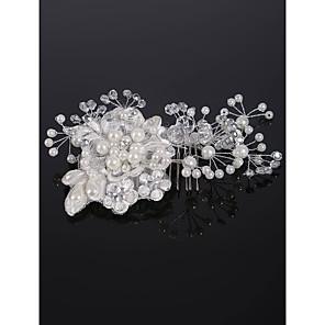 cheap Wedding Decorations-Imitation Pearl / Rhinestone / Alloy Hair Combs with Rhinestone / Crystal / Imitation Pearl 1 Piece Wedding Headpiece