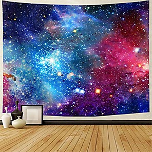 "cheap Wall Tapestries-galaxy tapestry nebula tapestry starry sky tapestry colorful cosmic out space tapestry psychedelic mystic stars tapestry wall hanging for ceiling living room dorm decor & #40;92.5""×70.5"","