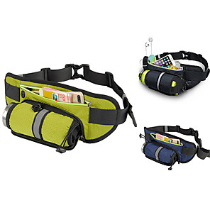 cheap Running Bags-Fanny Pack Hiking Waist Bag Running Pack for Fitness Running Camping Cycling Sports Bag Waterproof Lightweight Wearable with Water Bottle Holder Adjustable Buckle Multiple Pockets Nylon Men's Women's