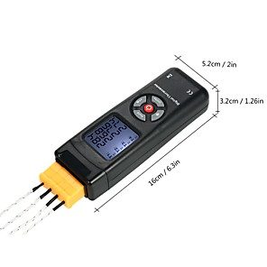cheap Testers & Detectors-4-Channel K-Type Digital LCD Thermometer Thermocouple Sensor -501350C/-582462F Data Hold Function