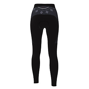 cheap Cycling Jersey & Shorts / Pants Sets-21Grams Women's Cycling Tights Winter Polyester Bike Tights Padded Shorts / Chamois Pants Breathable 3D Pad Quick Dry Sports Solid Color Black Mountain Bike MTB Road Bike Cycling Clothing Apparel