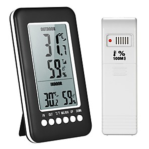 cheap Testers & Detectors-LCD Digital Wireless Indoor/Outdoor Thermometer Hygrometer / Temperature Humidity Meter with Max Min Value Display Transmitter