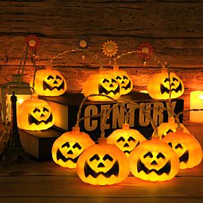cheap LED String Lights-10Leds Halloween String Lights Pumpkin Ghost Skeletons Led Light String Festival Bar Home Party Decor Halloween Ornament